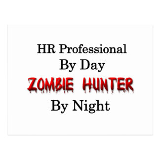 Stunde beruflich/Zombie-Jäger Postkarte