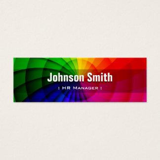 Stunden-Manager - Radialregenbogen-Farben Mini Visitenkarte