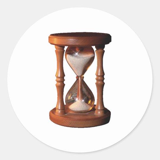 Stundenglas Sanduhr Eieruhr hourglass Runder Aufkleber