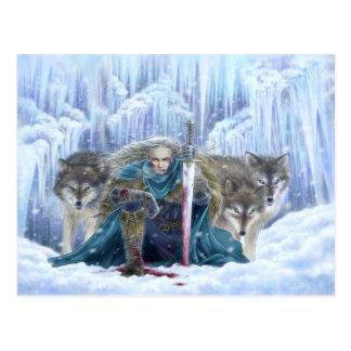 Sturm der Eis-Fantasie-Postkarte Postkarte