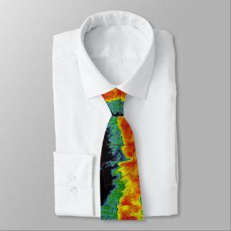 Sturm-Geleitboot-Radar-Bild Personalisierte Krawatten