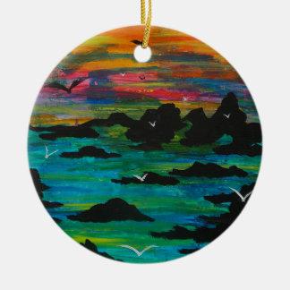 Sturm im Abstand Rundes Keramik Ornament