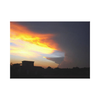 Sturm im Kerngebiet Leinwanddruck