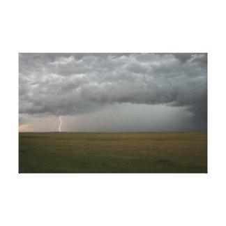 Sturm in der Abstands-Leinwand Leinwanddruck