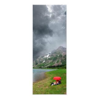 Sturm über kastanienbraunem See/Höchstcolorado Fotodruck