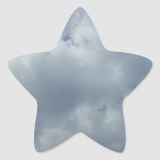 Sturm-Wolken Stern-Aufkleber