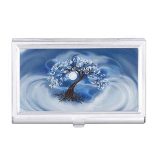 Sturm-Wolken und Baum-Visitenkarte-Kasten Visitenkarten Etui
