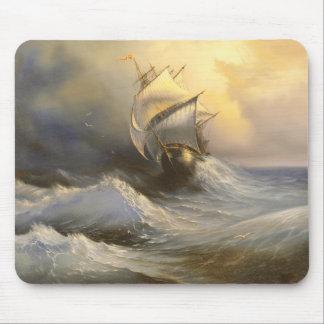 Stürmische Fregatte-Malerei-Mausunterlage Mousepad