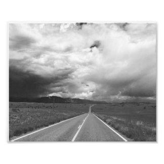 Stürmische Landstraße Fotodruck