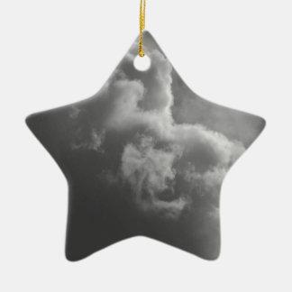 Stürmische Wolken Keramik Stern-Ornament