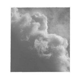 Stürmische Wolken Notizblock
