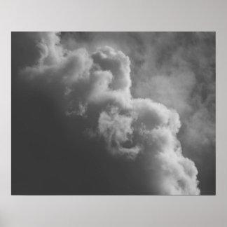 Stürmische Wolken Poster