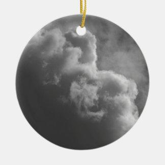 Stürmische Wolken Rundes Keramik Ornament