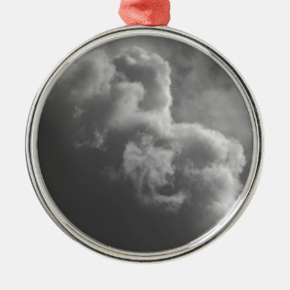 Stürmische Wolken Rundes Silberfarbenes Ornament