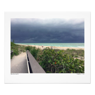 Stürmischer Himmel über Aqua-Meer Fotodruck