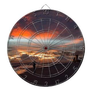Stürmischer Sonnenuntergang Dartscheibe