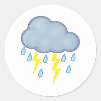 Stürmisches Wetter Runde Aufkleber