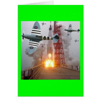 Sturzbomber-Angriffs-Rakete Grußkarte
