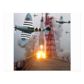 Sturzbomber-Angriffs-Rakete Postkarten