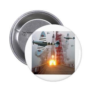 Sturzbomber-Angriffs-Rakete! Runder Button 5,7 Cm