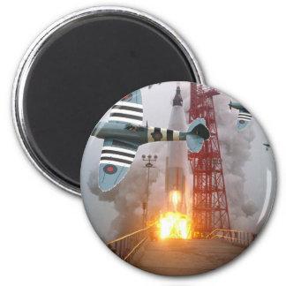 Sturzbomber-Angriffs-Rakete! Runder Magnet 5,1 Cm