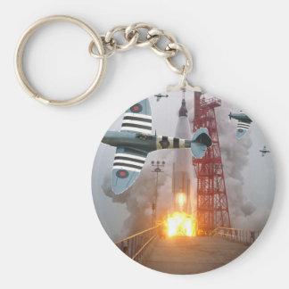 Sturzbomber-Angriffs-Rakete! Standard Runder Schlüsselanhänger