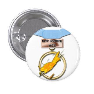 Sturzbomber-Asmedaillenknopf Runder Button 2,5 Cm