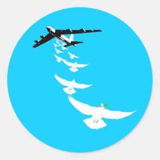 Sturzbomber des FriedensB52 Runder Sticker