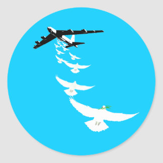 Sturzbomber des FriedensB52 Runder Aufkleber