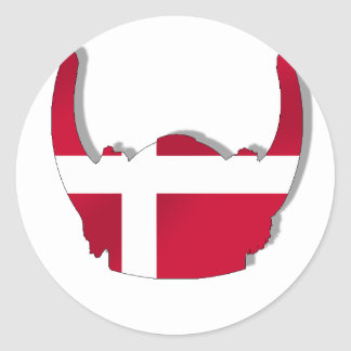 Sturzhelm Dänemark-Dänische-Vikings Dansk Sticker