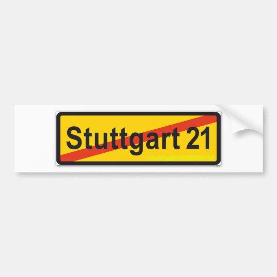 Stuttgart 21 autoaufkleber