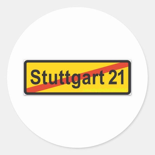 Stuttgart 21 runder aufkleber