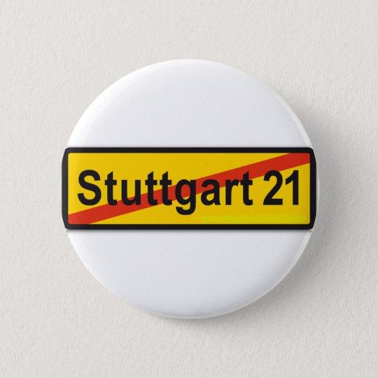Stuttgart 21 runder button 5,7 cm