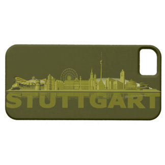 Stuttgart city of skyline - iPhone4 covering Etui Fürs iPhone 5