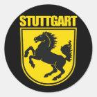 Stuttgart Runder Aufkleber
