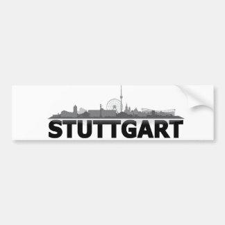 Stuttgart Stadt Skyline - Autoaufkleber /Aufkleber