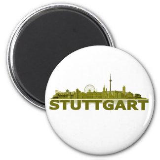 Stuttgart Stadt Skyline - Magnet Kühlschrankmagnet