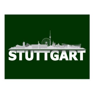 Stuttgart Stadt Skyline - Postkarte