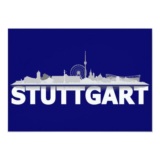 Stuttgart Stadt Skyline - Postkarte / Klappkarte 12,7 X 17,8 Cm Einladungskarte