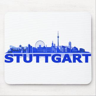 Stuttgart Stadt Skyline - sonstige Geschenkideen Mauspad