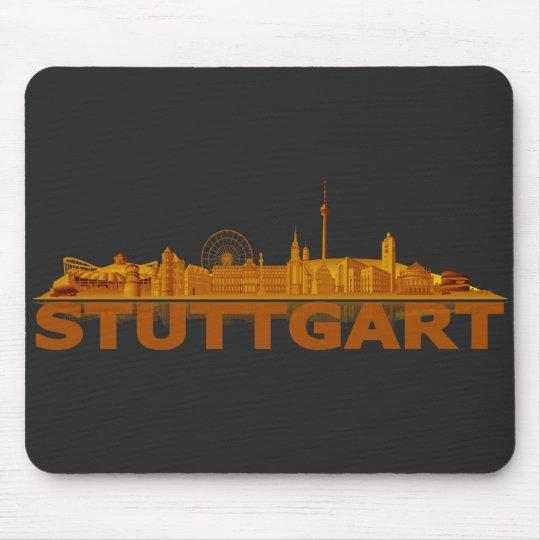Stuttgart Stadt Skyline - sonstige Geschenkideen Mousepad
