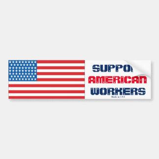 Stützamerikanischer Arbeitskraft-Autoaufkleber Autoaufkleber