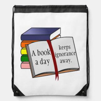 Stützbildung regen Lesungsbücher an Turnbeutel