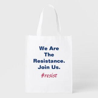 Stützdemokratie sind- wir der Widerstand verbinden Wiederverwendbare Einkaufstasche