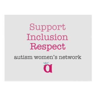 Stützeinbeziehungs-Respekt-Postkarte Postkarte