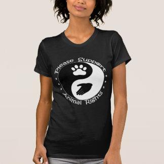 Stützen Sie bitte Tierrecht-Shirt T-Shirt
