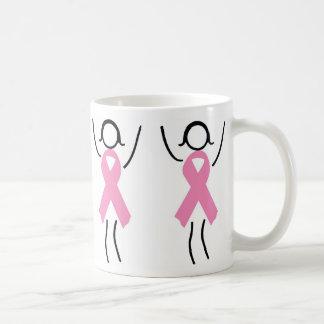 Stützen Sie das rosa Band Kaffeetasse