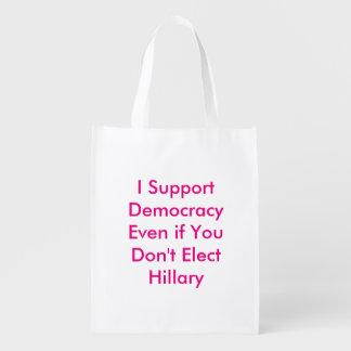 Stützen Sie Demokratie, selbst wenn Sie nicht Wiederverwendbare Einkaufstasche