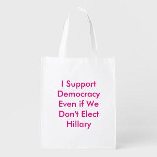 Stützen Sie Demokratie, selbst wenn wir nicht Wiederverwendbare Einkaufstasche