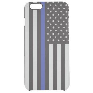 Stützen Sie den Polizei-dünnen Blue Durchsichtige iPhone 6 Plus Hülle